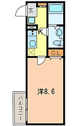 JR山手線 巣鴨駅 徒歩6分の賃貸アパート 2階1Kの間取り