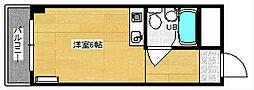 清水ビル[507号室]の間取り