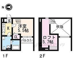 ソフィア桃山 2階1Kの間取り