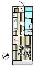 リブリ・ぷらんどるHAKUYO[101号室]の間取り