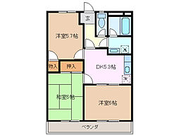 グランパスSHIROTA A棟[2階]の間取り