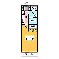 ハッピーオウル[1階]の間取り