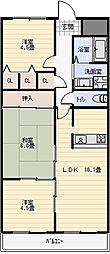 アロッジオK・T・I[1階]の間取り