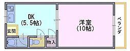 原荘苑[1階]の間取り