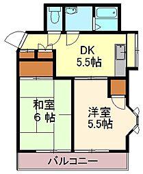 セントラルマンションNOJIMA[4階]の間取り