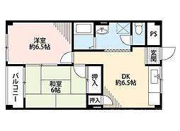 南恩加島マンション[3階]の間取り
