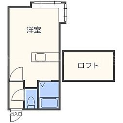 北海道札幌市東区北二十六条東2の賃貸アパートの間取り