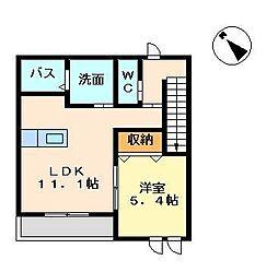 サンハイツ 奈良[203号室]の間取り
