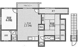 上林ハイツ[2階]の間取り