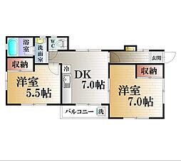 ハイツ稲98[1F号室]の間取り
