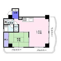 杉本町グランドハイツ[4階]の間取り