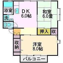埼玉県ふじみ野市築地1丁目の賃貸アパートの間取り