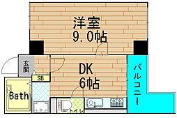 藤和シティコープ大手前II[6階]の間取り