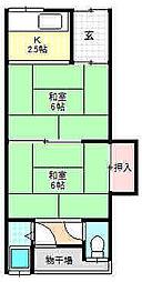 大倉町寿文化[1階]の間取り