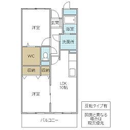 木村ロイヤルマンション III[205号室号室]の間取り