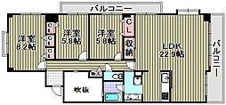 サンシティ貝塚一番館[7階]の間取り