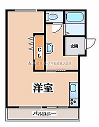 マンション東花園[4階]の間取り
