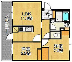 浅川団地300棟[303号室]の間取り