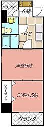 ロイヤルキャッスル[1302号室]の間取り