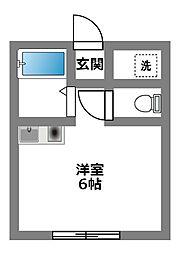 神奈川県相模原市中央区淵野辺3丁目の賃貸アパートの間取り