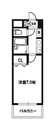 ノルデンハイム小松[2階]の間取り
