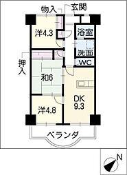 天神山マンションI号館[9階]の間取り