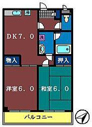 フィネス幕張[303号室]の間取り