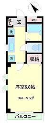 東京都調布市国領町3丁目の賃貸マンションの間取り
