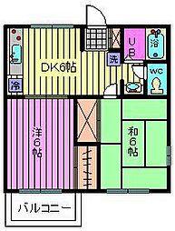 ウエムラコーポ[2階]の間取り
