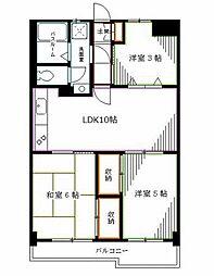 JR中央本線 阿佐ヶ谷駅 徒歩15分の賃貸マンション 1階3LDKの間取り