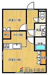 ピュアライヴ翔1[1階]の間取り