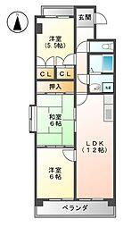 エスポワ−ルマンション[4階]の間取り