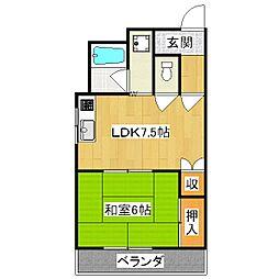 京阪四ノ宮アバンギャルド[2階]の間取り