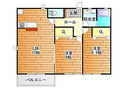 Woody Court  (ウッディコート)[1階]の間取り
