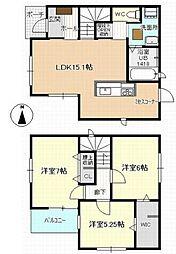 [一戸建] 愛知県清須市清洲屋敷 の賃貸【/】の間取り
