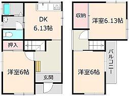 [一戸建] 千葉県船橋市北本町2丁目 の賃貸【/】の間取り