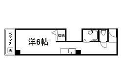 御所西シンワマンション[303号室]の間取り