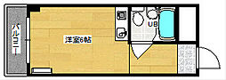 清水ビル[505号室]の間取り