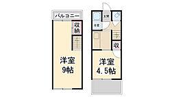 [テラスハウス] 兵庫県川西市小戸1丁目 の賃貸【/】の間取り