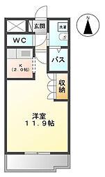 神奈川県伊勢原市伊勢原3丁目の賃貸アパートの間取り