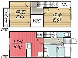[タウンハウス] 千葉県千葉市稲毛区長沼町 の賃貸【/】の間取り