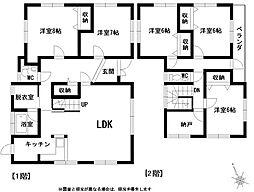 [一戸建] 熊本県八代市坂本町中津道 の賃貸【/】の間取り