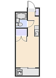 ファミール北野B[202号室]の間取り