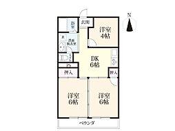 プラザマンション[4階]の間取り