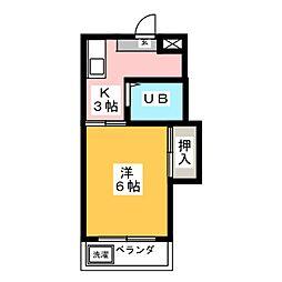 サンセット77[2階]の間取り