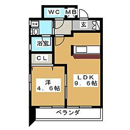 プロビデンス筒井[5階]の間取り