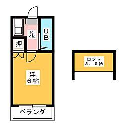 愛知県名古屋市南区堤町2丁目の賃貸アパートの間取り
