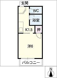 レジデンス東山B棟[2階]の間取り