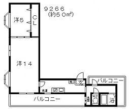 クレインファースト[502号室号室]の間取り