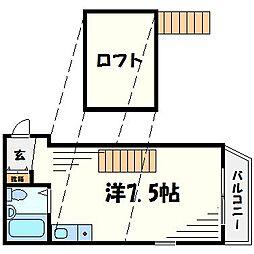 イングヴィラ甲子園口[3階]の間取り